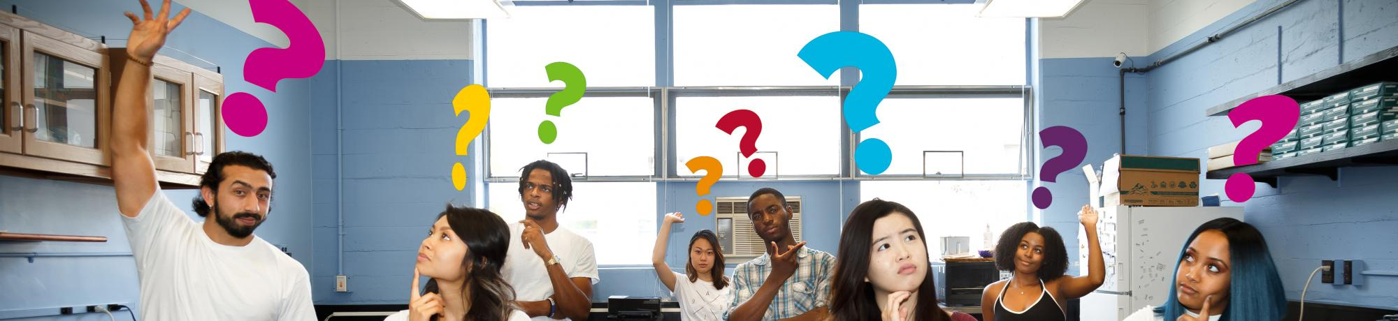 Students asking questions